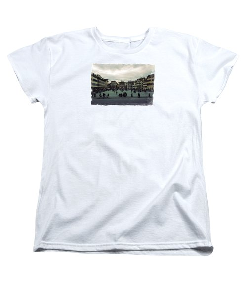 Women's T-Shirt (Standard Cut) featuring the photograph A Square In Florence Italy by Wade Brooks