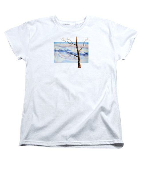 A Tree In Another Dimension Women's T-Shirt (Standard Cut) by Debbie Lewis
