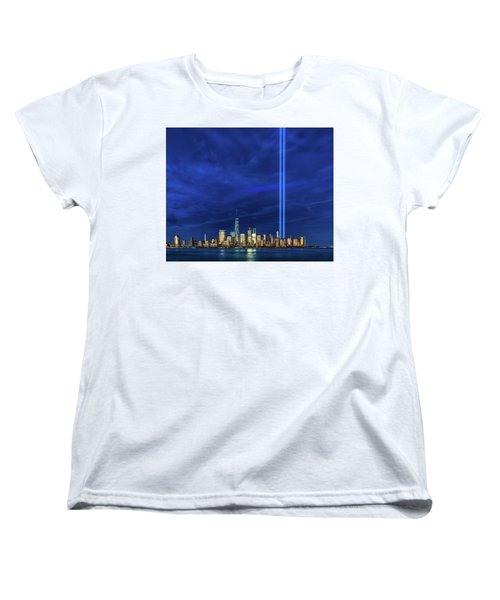 Women's T-Shirt (Standard Cut) featuring the photograph A Tribute At Dusk by Chris Lord