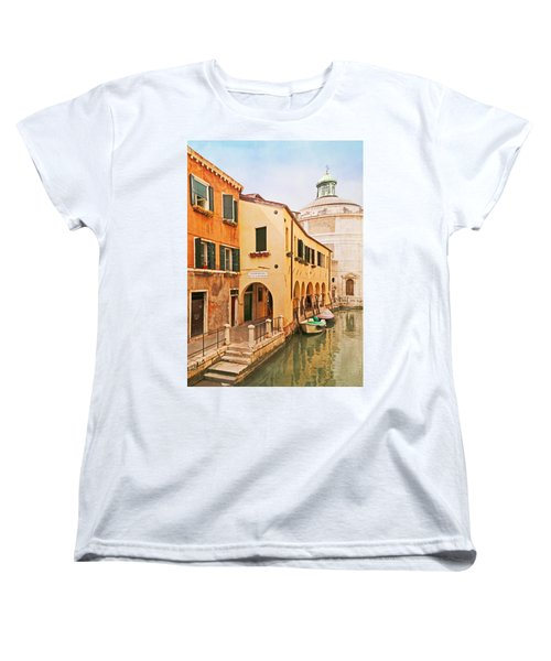 A Venetian View - Sotoportego De Le Colonete - Italy Women's T-Shirt (Standard Cut) by Brooke T Ryan