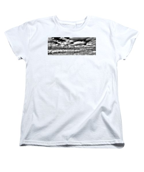 Women's T-Shirt (Standard Cut) featuring the photograph A Winter Panorama by David Patterson