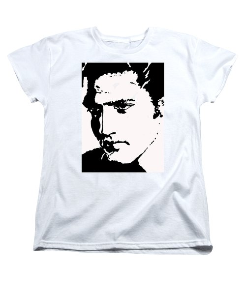 Women's T-Shirt (Standard Cut) featuring the drawing A Young Elvis by Robert Margetts