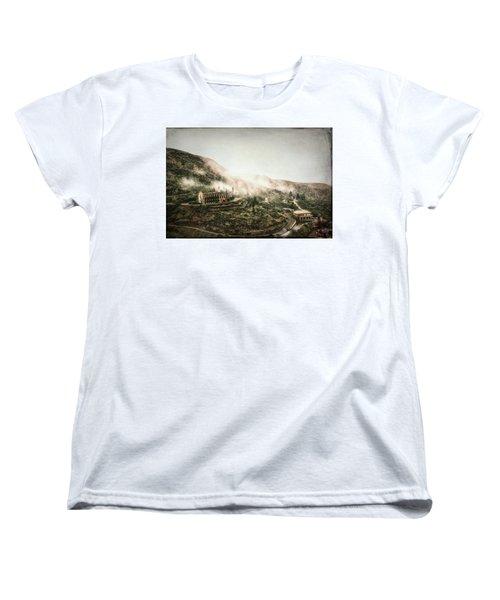 Abandoned Hotel In The Fog Women's T-Shirt (Standard Cut) by Robert FERD Frank