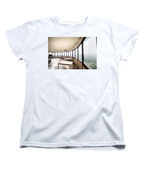 Abandoned Tower Restaurant - Urban Decay Women's T-Shirt (Standard Cut) by Dirk Ercken