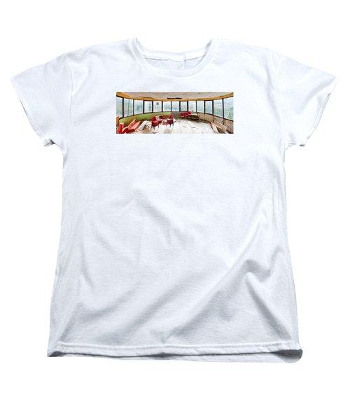 Abandoned Tower Restaurant - Urban Panorama Women's T-Shirt (Standard Cut) by Dirk Ercken