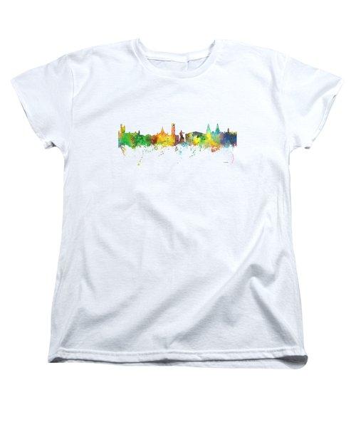 Aberdeen Scotland Skyline Women's T-Shirt (Standard Cut)