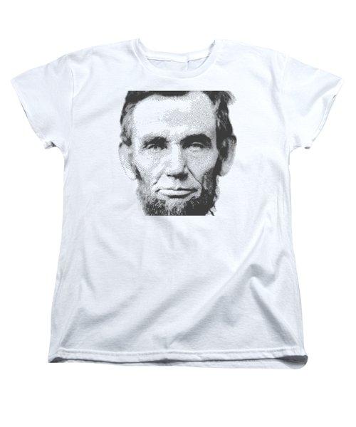 Abraham Lincoln - Parallel Hatching Women's T-Shirt (Standard Cut) by Samuel Majcen