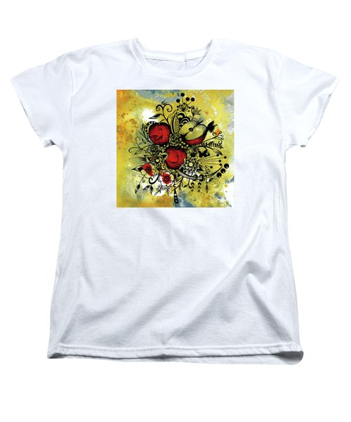 Abstract Acrylic Painting Apples II Women's T-Shirt (Standard Cut) by Saribelle Rodriguez
