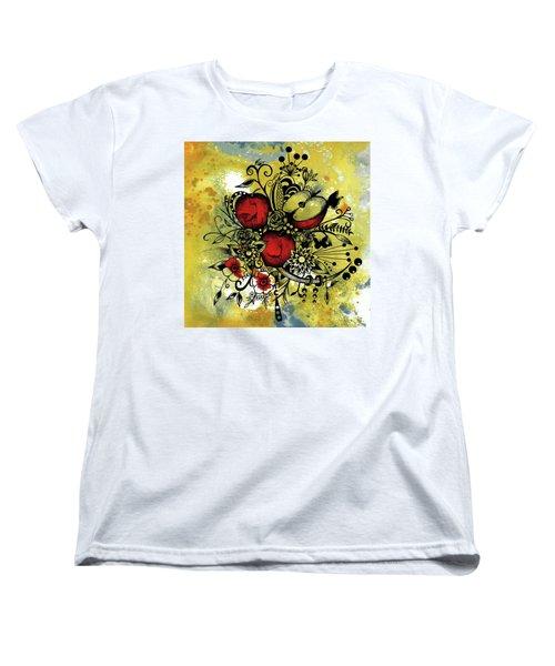 Abstract Acrylic Painting Apples II Women's T-Shirt (Standard Cut)