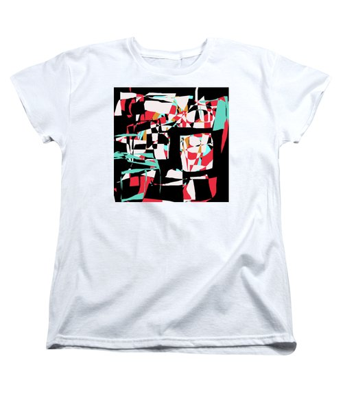Women's T-Shirt (Standard Cut) featuring the digital art Abstract Boxes by Jessica Wright