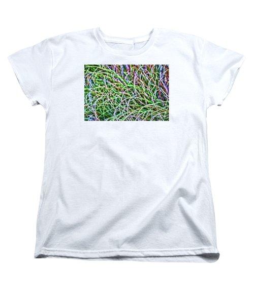Abstract Grass Women's T-Shirt (Standard Cut) by Roberta Byram