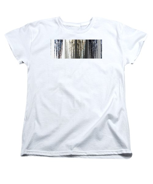 Women's T-Shirt (Standard Cut) featuring the digital art Abstract Icicles by Will Borden