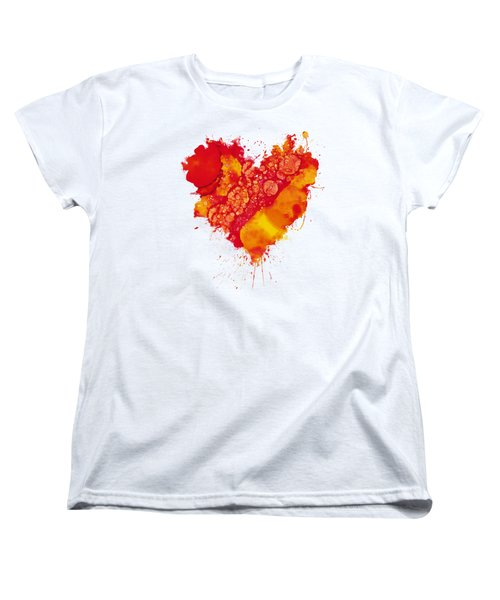 Women's T-Shirt (Standard Cut) featuring the painting Abstract Intensity by Nikki Marie Smith