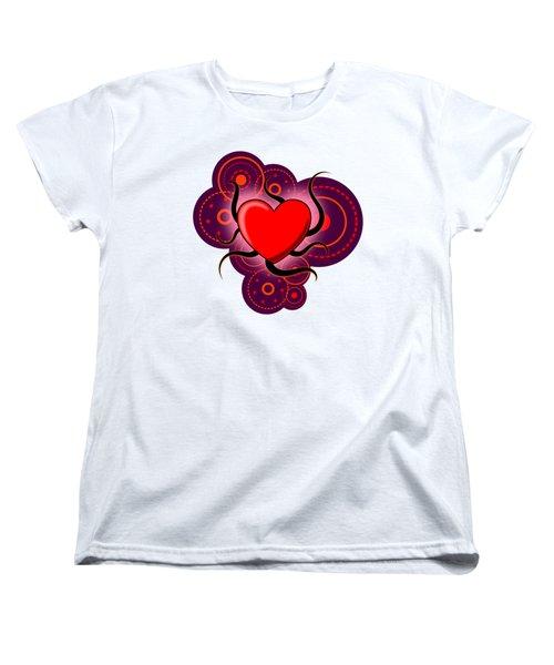 Abstract Love Women's T-Shirt (Standard Cut) by Martin Capek