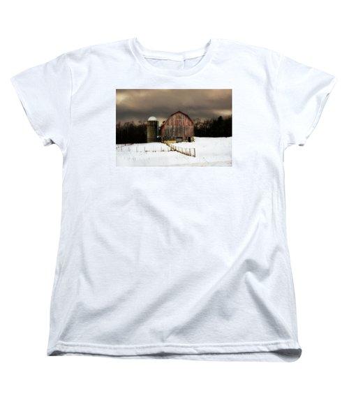 Women's T-Shirt (Standard Cut) featuring the photograph Acorn Acres by Julie Hamilton