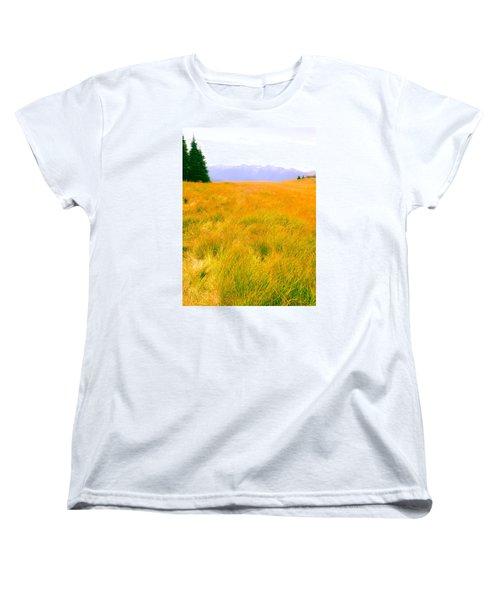 Women's T-Shirt (Standard Cut) featuring the photograph Across The Summer Meadow by Ronda Broatch