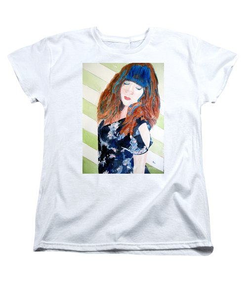 Women's T-Shirt (Standard Cut) featuring the painting Adelina by Sandy McIntire