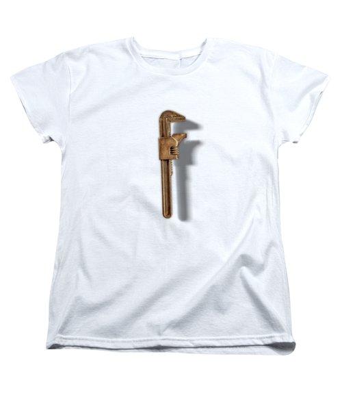 Adjustable Wrench Back On Color Paper Women's T-Shirt (Standard Fit)