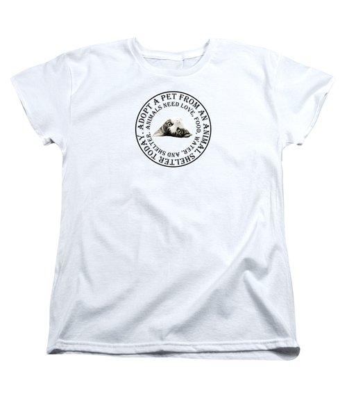 Adopt A Pet T-shirt Design Women's T-Shirt (Standard Cut)