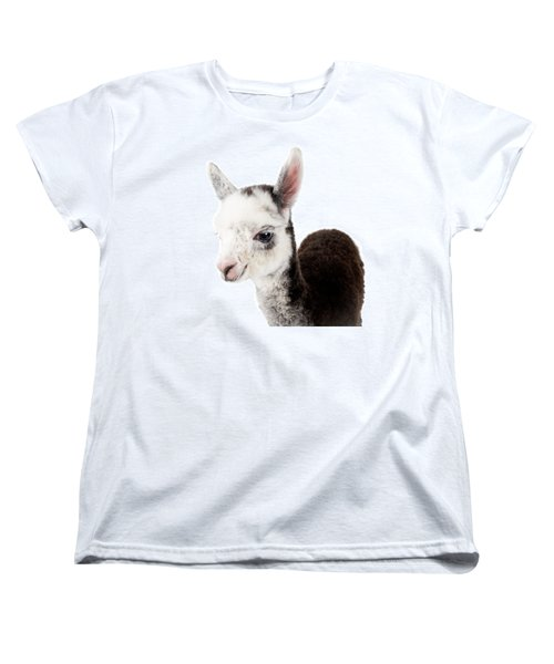 Women's T-Shirt (Standard Cut) featuring the photograph Adorable Baby Alpaca Cuteness by TC Morgan