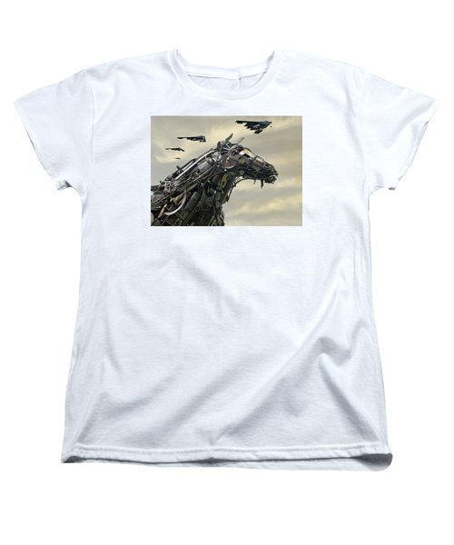 Advance Of The Machines Women's T-Shirt (Standard Cut) by Christopher McKenzie
