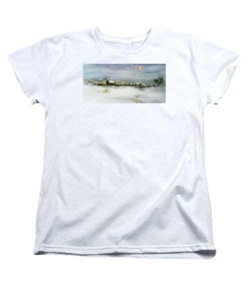 After A Heavy Fall Of Snow Women's T-Shirt (Standard Cut) by Xueling Zou