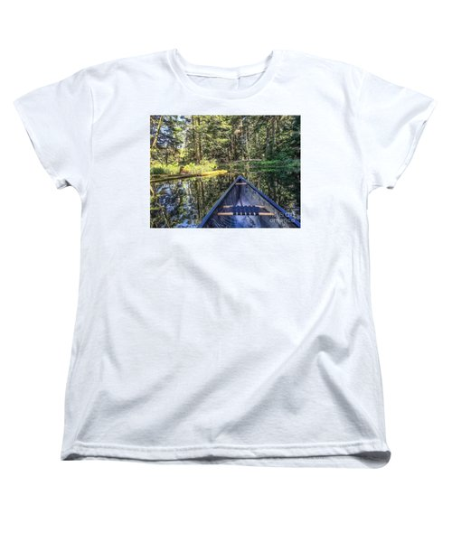 Women's T-Shirt (Standard Cut) featuring the photograph Afternoon Paddle by William Wyckoff