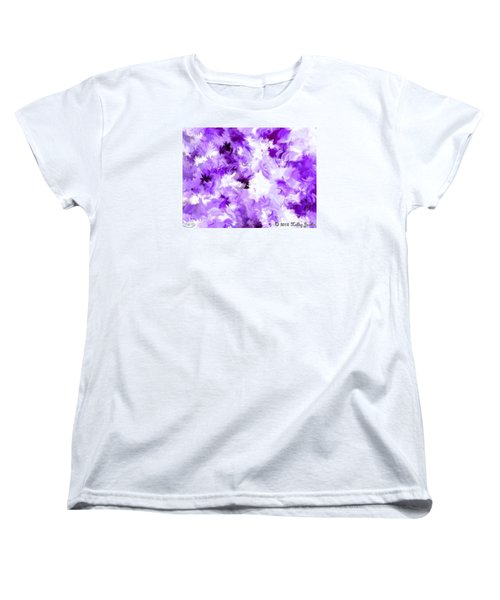 Women's T-Shirt (Standard Cut) featuring the painting Ain't Sweating The Little Things by Holley Jacobs
