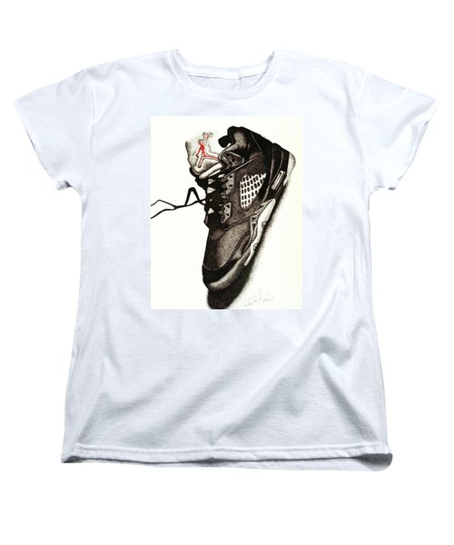Air Jordan Women's T-Shirt (Standard Cut) by Robert Morin