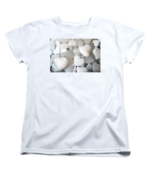 Alabaster Hearts Women's T-Shirt (Standard Cut) by Ana Mireles