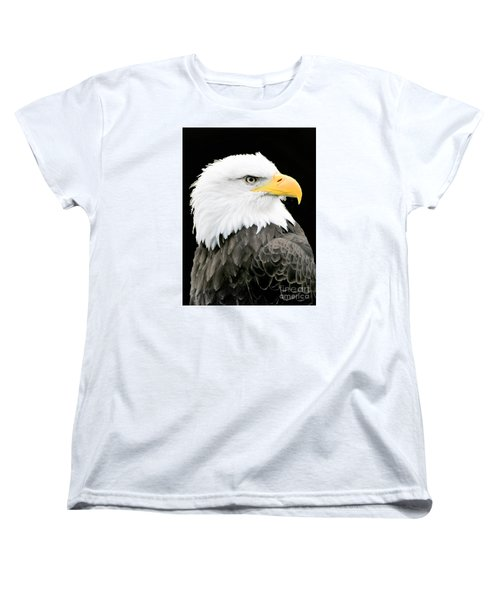 Alaskan Bald Eagle Women's T-Shirt (Standard Cut) by Merton Allen