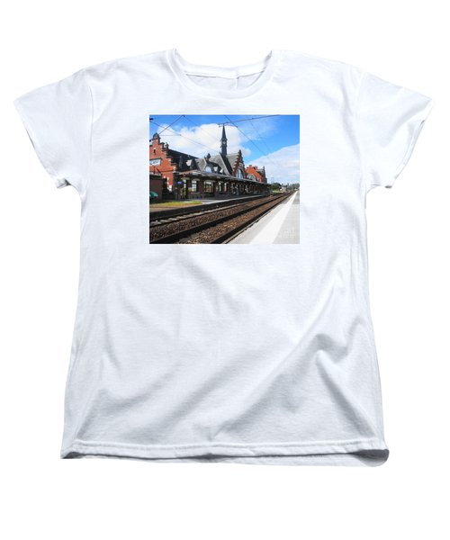 Women's T-Shirt (Standard Cut) featuring the photograph Albert Train Station, France by Therese Alcorn