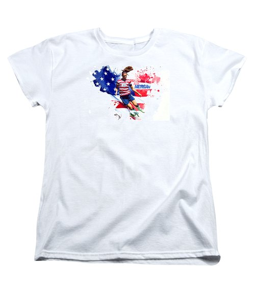 Alex Morgan Women's T-Shirt (Standard Cut) by Semih Yurdabak