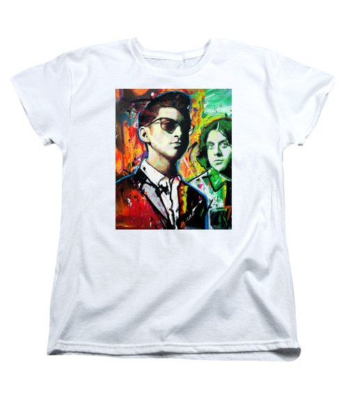 Women's T-Shirt (Standard Cut) featuring the painting Alex Turner by Richard Day