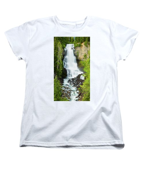 Women's T-Shirt (Standard Cut) featuring the photograph Alexander Falls - 2 by Stephen Stookey