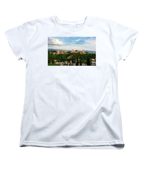 Alhambra In The Evening Women's T-Shirt (Standard Cut) by Marion McCristall