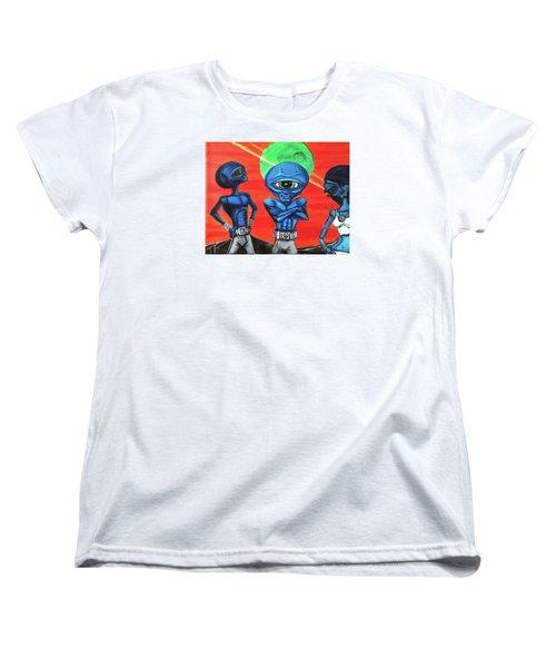 Women's T-Shirt (Standard Cut) featuring the painting Alien Posse by Similar Alien