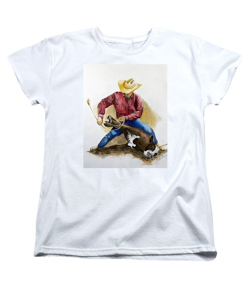 All Cinched Up Women's T-Shirt (Standard Cut) by Jimmy Smith