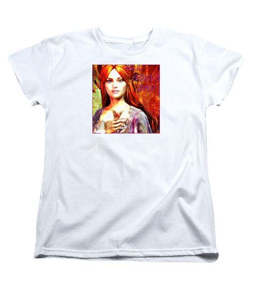 Women's T-Shirt (Standard Cut) featuring the painting All Souls Day Angel by Suzanne Silvir