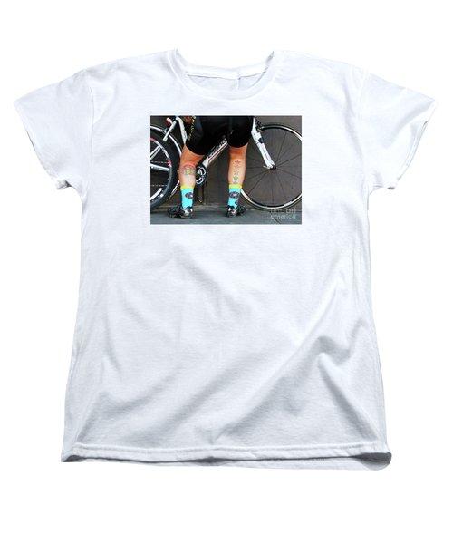 Women's T-Shirt (Standard Cut) featuring the photograph All Star Cyclist by Joe Jake Pratt