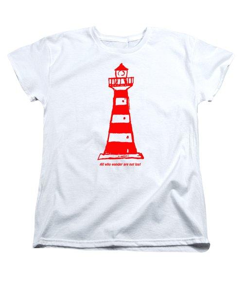 All Who Wander Women's T-Shirt (Standard Cut) by Gillian Singleton