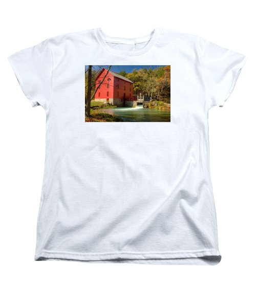 Women's T-Shirt (Standard Cut) featuring the photograph Alley Mill by Harold Rau
