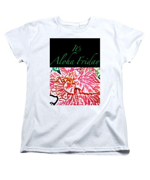 Aloha Friday T-shirt Women's T-Shirt (Standard Cut) by James Temple