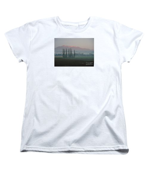 Women's T-Shirt (Standard Cut) featuring the photograph Alpenglow  by Jeanette French