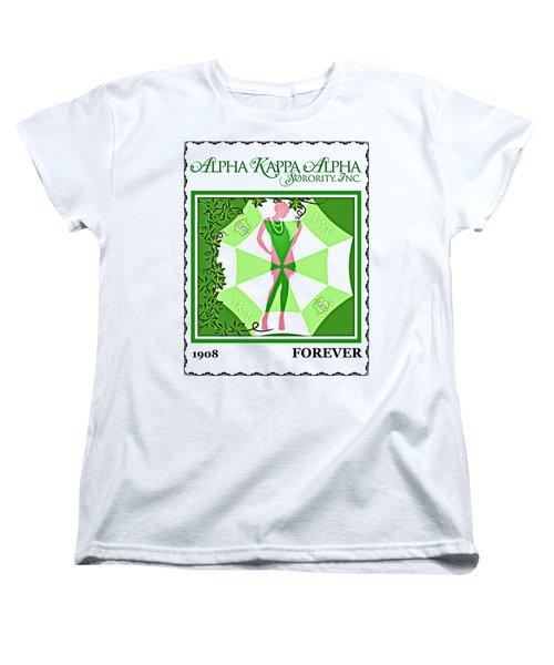 Alpha Kappa Alpha Women's T-Shirt (Standard Cut) by Lynda Payton