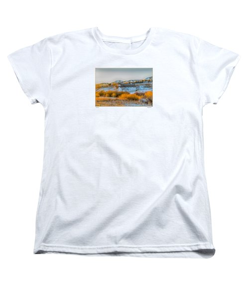 Women's T-Shirt (Standard Cut) featuring the photograph Amber Grass by R Thomas Berner