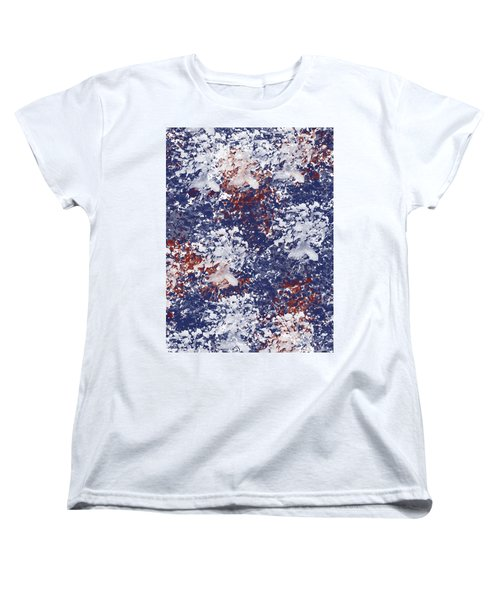 America Watercolor Women's T-Shirt (Standard Cut) by P S