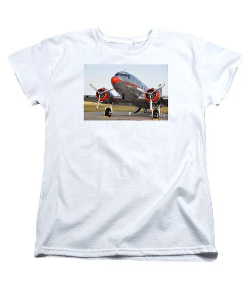 American Airlines Dc3 Women's T-Shirt (Standard Cut) by John Black