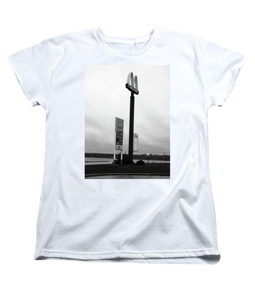 Women's T-Shirt (Standard Cut) featuring the photograph American Interstate - Illinois I-55 by Frank Romeo
