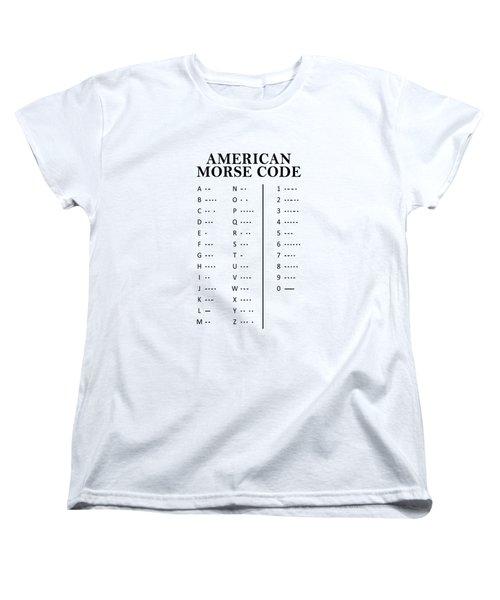 American Morse Code Women's T-Shirt (Standard Cut) by Mark Rogan